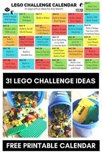 lego challenges for children lego challenge calendar free printable for