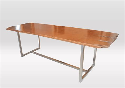 slab dining table erosion teak single slab dining table at 1stdibs
