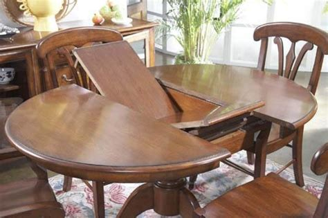 expandable dining room table expanding table shelby