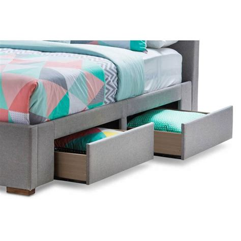 Bed Frames Seattle Seattle Bed Frame W 4 Storage Drawers Grey Buy Bed Frame