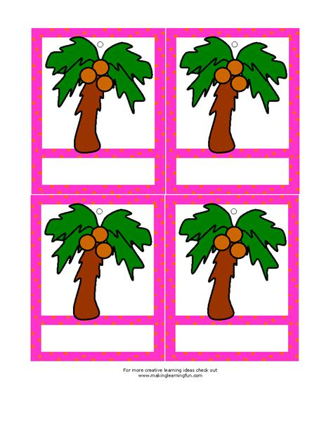 chicka chicka boom boom tree template chicka chicka boom boom name tage templates school