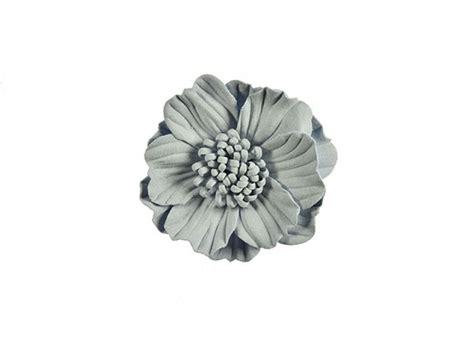 bloem diameter 50 3d bloem licht grijs 75 mm
