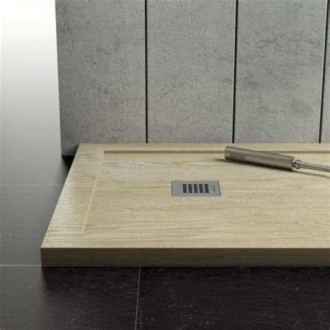 piatto doccia in legno piatto doccia in marmo resina con bordo effetto legno