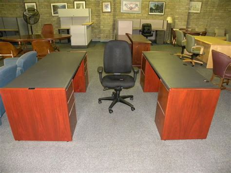 writing desk with matching credenza used locking pedestal standard desk with matching