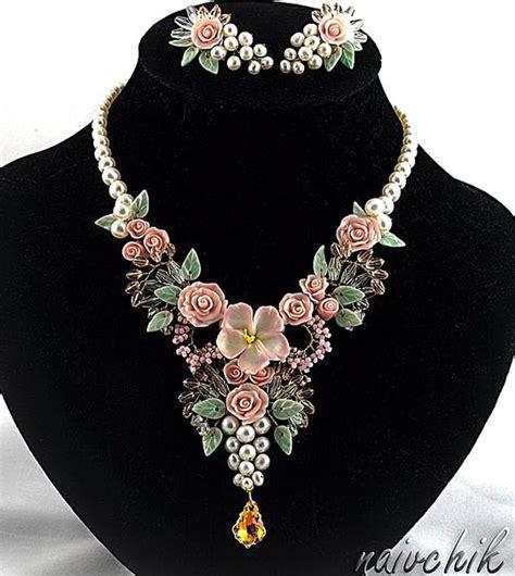 how to make flower jewelry beautiful flower jewelry by alina bondarenko magic