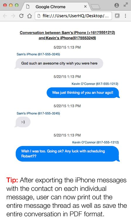 text sms how to save print iphone text messages with the name and