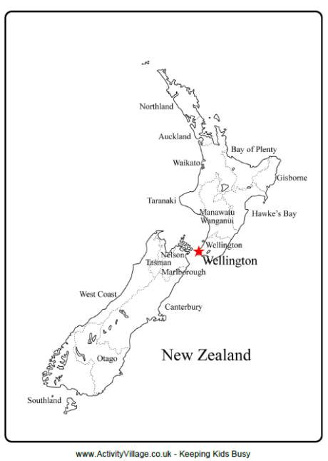 printable maps nz new zealand outline map