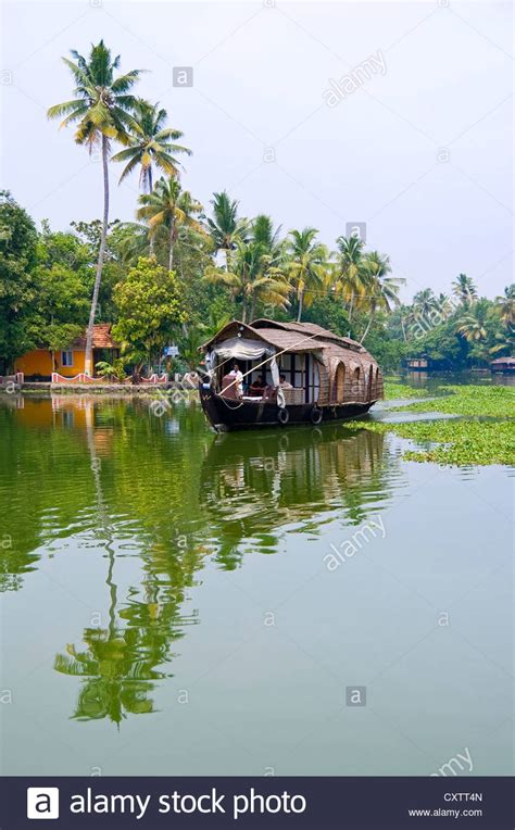 kerala boat house view vertical view of a traditional wooden house boat