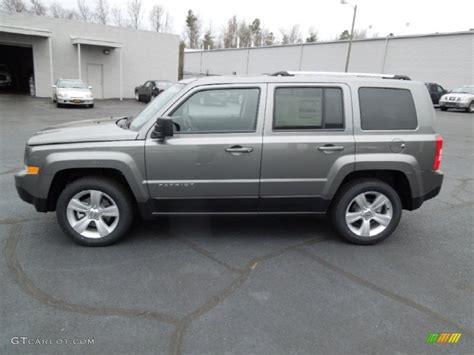 gray jeep patriot mineral gray metallic 2013 jeep patriot limited exterior
