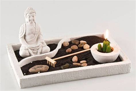 zen garten miniatur set zen style mini japanese garden with black sand and buddha