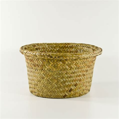 Baskets Handmade - 8 quot palm wicker basket wholesale flowers and supplies