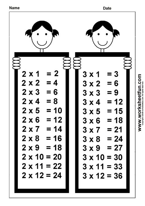 2 by 3 table times table chart 2 3 free printable worksheets