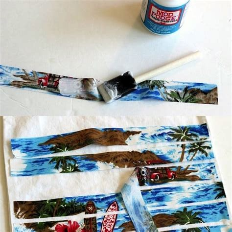 can you decoupage with fabric themed decoupage bag mod podge rocks