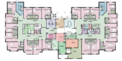 nursing home floor plans senior care floor plan care home plans ideas picture
