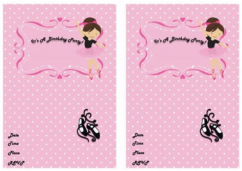 printable ballerina birthday invitations ballet birthday invitations birthday printable