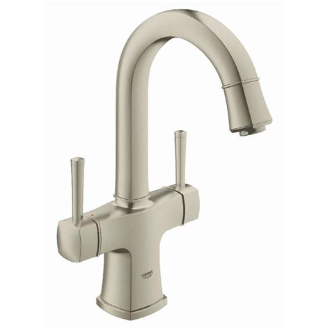 shop grohe grandera brushed nickel infinity 1 handle freestanding bathtub faucet at lowes com shop grohe grandera brushed nickel infinity 2 handle