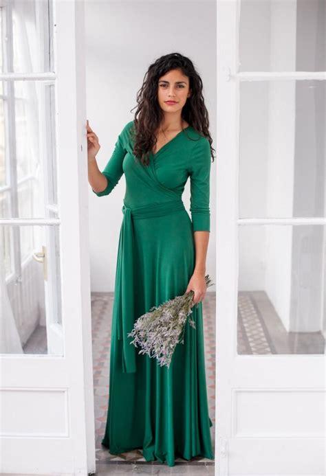 emerald green long sleeve dress emerald green dress long green wrap dress convertible