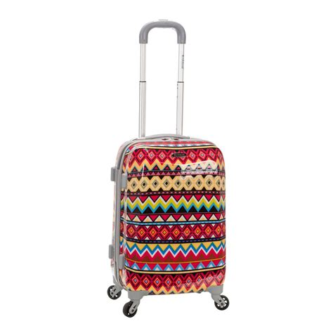 rockland 20 in polycarbonate carry on f151 tribal the