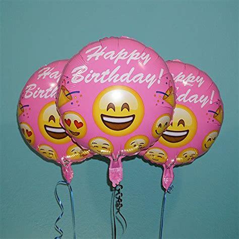 Balon Foil Emoji Birthday emoji balloons happy birthday pink foil helium 3 pack ebay