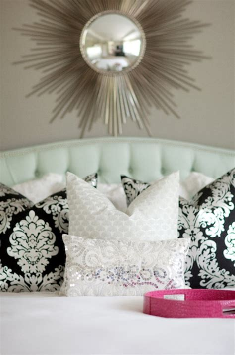 damask headboards damask pillows transitional bedroom sherwin williams