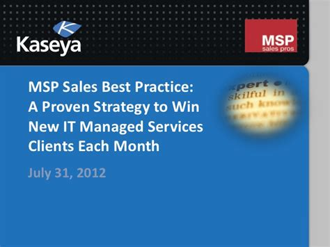 managed services in a month build a successful modern computer consulting business in 30days books msp sales best practice a proven strategy to win new it