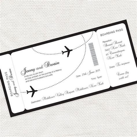 Come With Me Book Invites by Come Fly With Me Boarding Pass Wedding Invitation