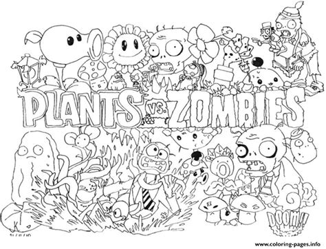 plants vs zombies coloring pages coloring home plants vs zombies zombie coloring pages coloring home