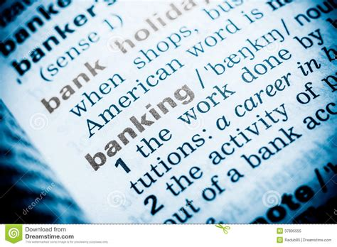 definition of a banker banking word definition royalty free stock photo image