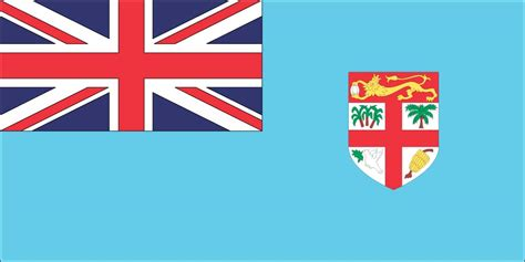 flags of the world light blue meaning of fiji flag