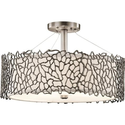 kichler mirrors as a match antique pewter transitional kichler silver coral duo mount pewter ceiling pendant