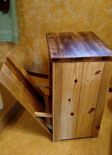 diy pallet trash can cabinet pallet wood trash storage microwave stand 75 us at