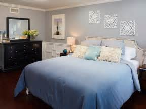Small Bedroom Makeover On A Budget - blue contemporary master bedroom photos hgtv