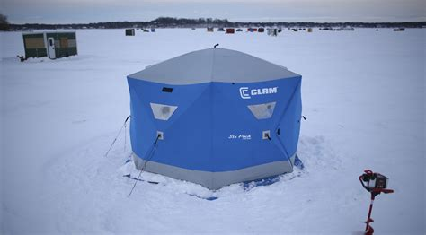 clam ice house clam outdoors from garage business to ice fishing leader startribune com
