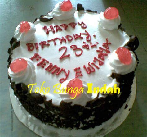 Kue Ulang Tahun Bunga Cokelat kue ulang tahun blackforest cokelat tiramizu
