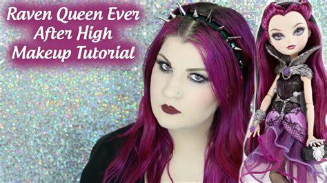 makeup tutorial raven queen raven queen ever after high makeup tutorial youtube