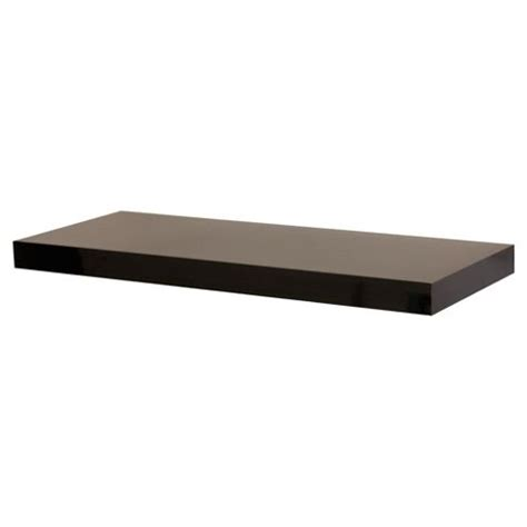 buy high gloss black floating shelf 60cm from our wall
