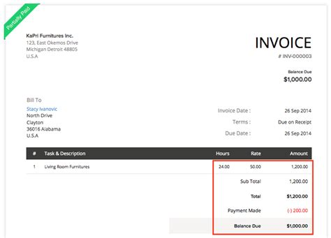 retainer invoices