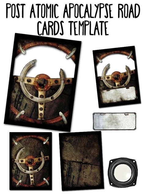 drive thru rpg card template cards template post atomic apocalypse road with