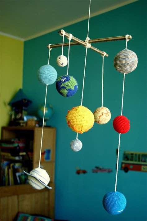 Solar system planets mobile crochet baby mobile educational kids