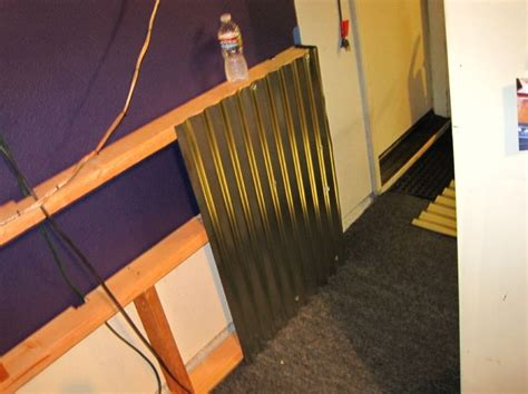 corrugated tin wainscoting how to adding a corrugated metal quot wainscoting type