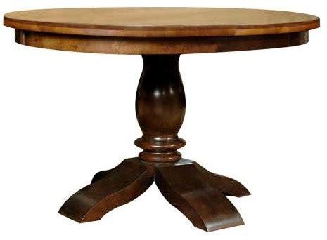 42 Pedestal Dining Table Buster 42 Quot Pedestal Dining Table Traditional Dining Tables By Ls Plus