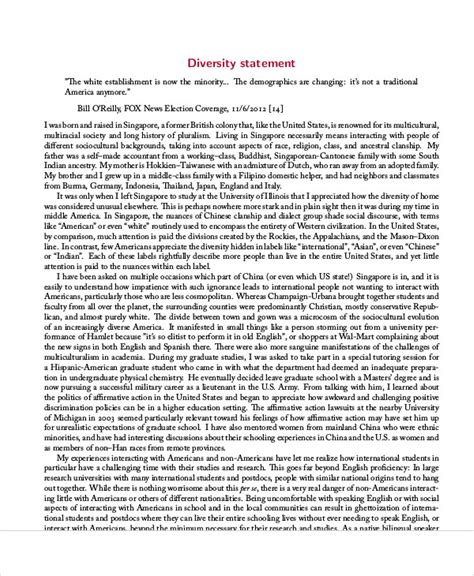 College Application Essay Exles Diversity Diversity Statement Sle 9 Exles In Word Pdf