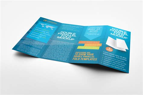 Double Parallel Fold Brochure Mock Up By Idesignstudio Net Parallel Fold Brochure Template