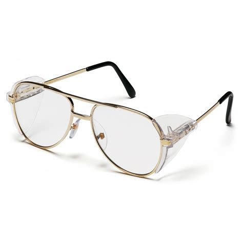 Metal Frame Lens Glasses pyramex pathfinder safety glasses gold metal frame