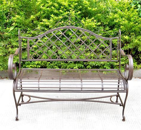 banc couleur banc jardin fer forge maison design wiblia