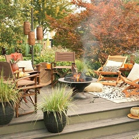 backyard patio decorating ideas 55 cozy fall patio decorating ideas digsdigs