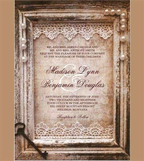 26 vintage wedding invitation templates free sle