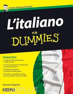 libreria ebook gratis italiano l italiano for dummies zoppetti antonio hoepli libro