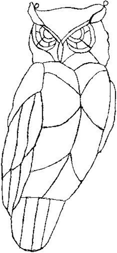 owl mosaic coloring page 361 best stained glass patterns images on pinterest