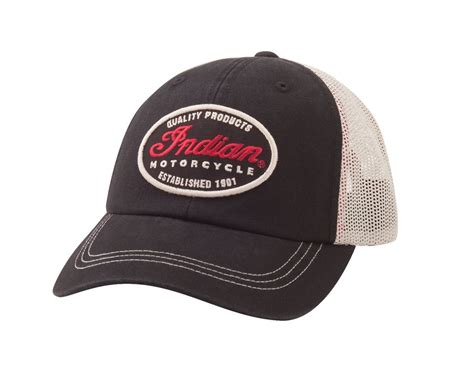 Motorcycle Apparel Virginia Beach by Quality Trucker Hat Black White Indian Motorcycle